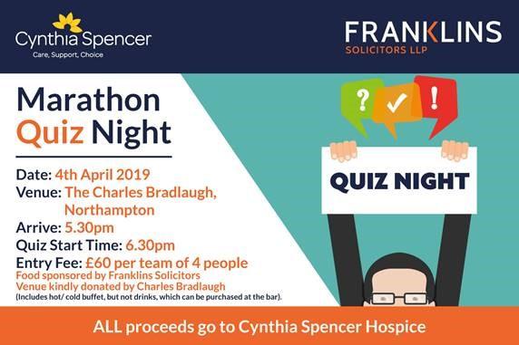 Take Part In Franklins Marathon Quiz Night Cynthia Spencer