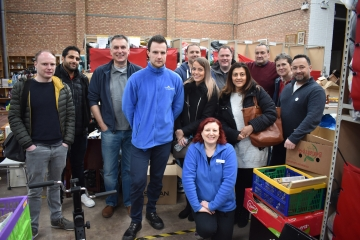 Staff from RBS Invoice Finance lend a hand at Cynthia Spencers Donation Station